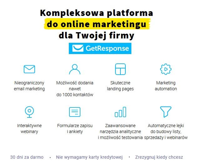 Getresponse - najlepsze narzędzie do marketing automation + link PROMO 30 dni gratis 1