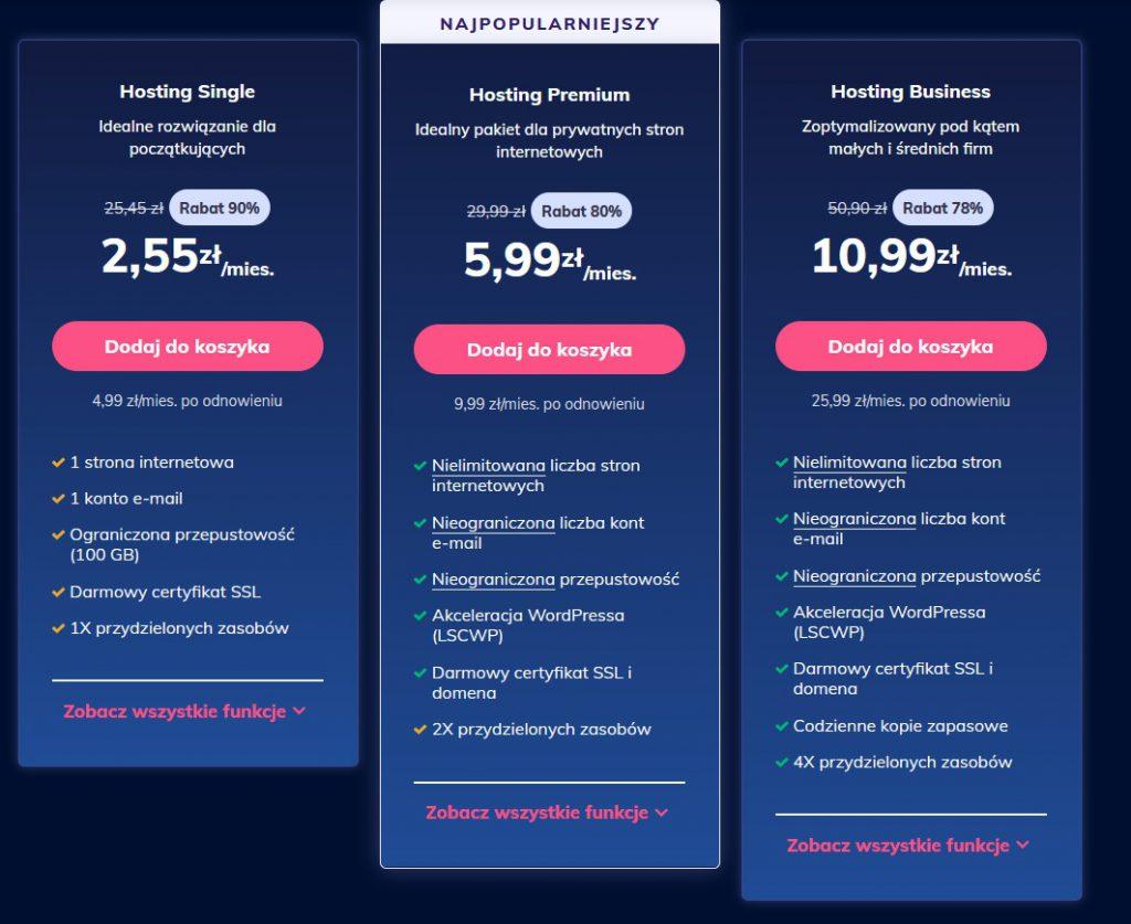Ranking hostingów. Jaki hosting wybrać w 2021? + jakich obowiązkowo UNIKAĆ! 3