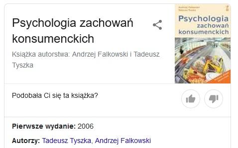 Psychologia zachowań konsumenckich A.Falkowski T.Tyszka książka