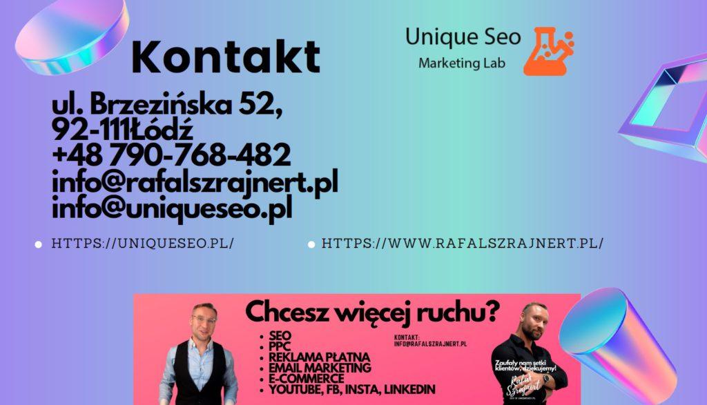 Podziękowanie za wypełnienie formularza. Skontaktujemy się wkrótce. UniqueSEO.pl 1