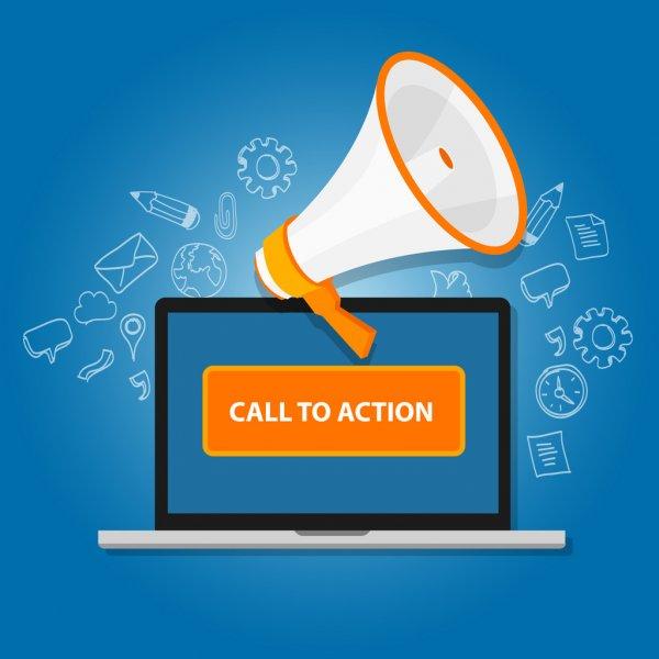 Call to action button cta